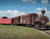 Old Vintage Railroad Train at 1880 Town in South Dakota A Train Landscape Photograph