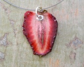 Strawberry Necklace - Fruit Jewelry