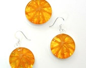 Real Orange Jewelry Set - Real Fruit Jewelry