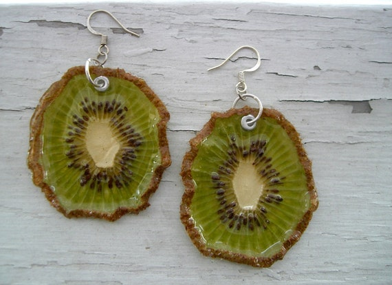 Kiwi Earrings - Real Fruit Jewelry