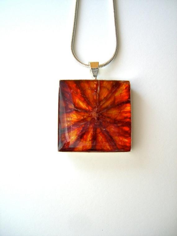 Blood Orange Pendant - Fruit Jewelry