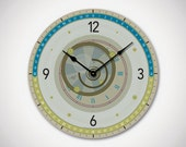 ASTRA - 13in Large Modern Wall Clock in Neutral Colors. Urban Clock. Modern. Urban. Astrology. Teen Decor. Holiday Gift. Ready to Ship
