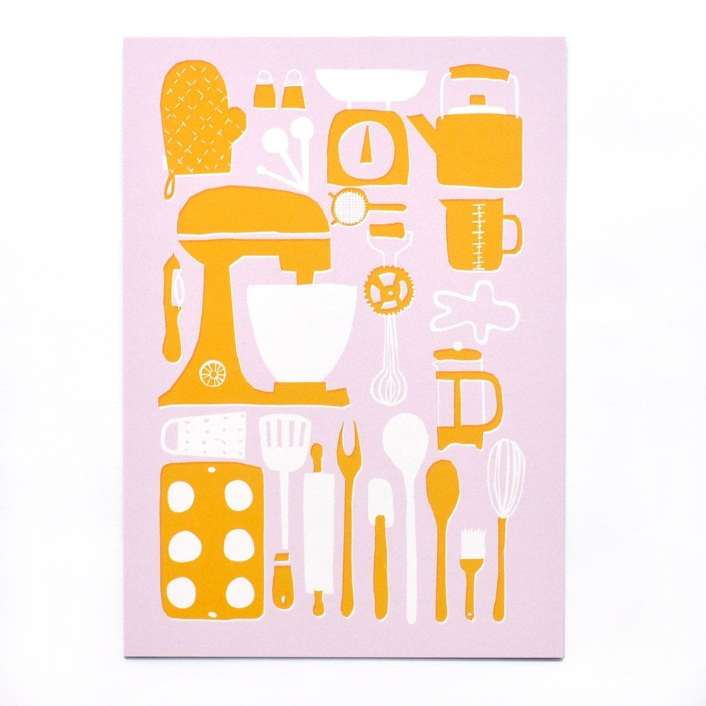 Retro Kitchen Postcard By Amyawalters On Etsy