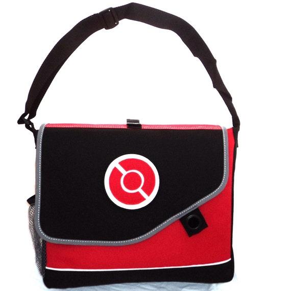 New Custom Messenger Bag Shoulder School Backpack Pokeball or Pikachu Pokemon Red
