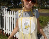 Yellow Sweety Upcycled Tunic Halter Top