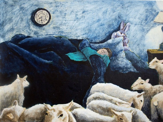 Counting Sheep Original Painting