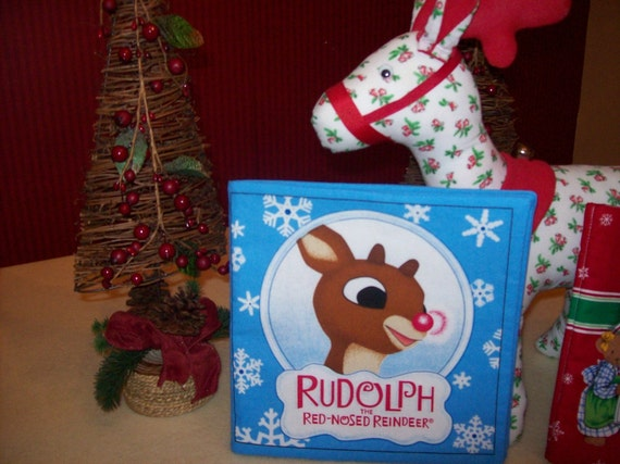 Rudolph the Red-Nosed Reindeer Won't You Guide My Sleigh Tonight Children Cloth Book