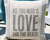 Love and Beach Pillow