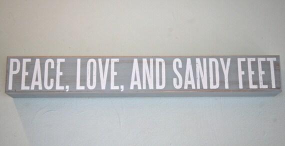 Beach Sign    peace love