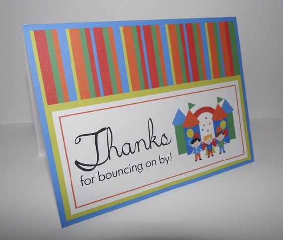 Bounce House Birthday Party Thank You Cards