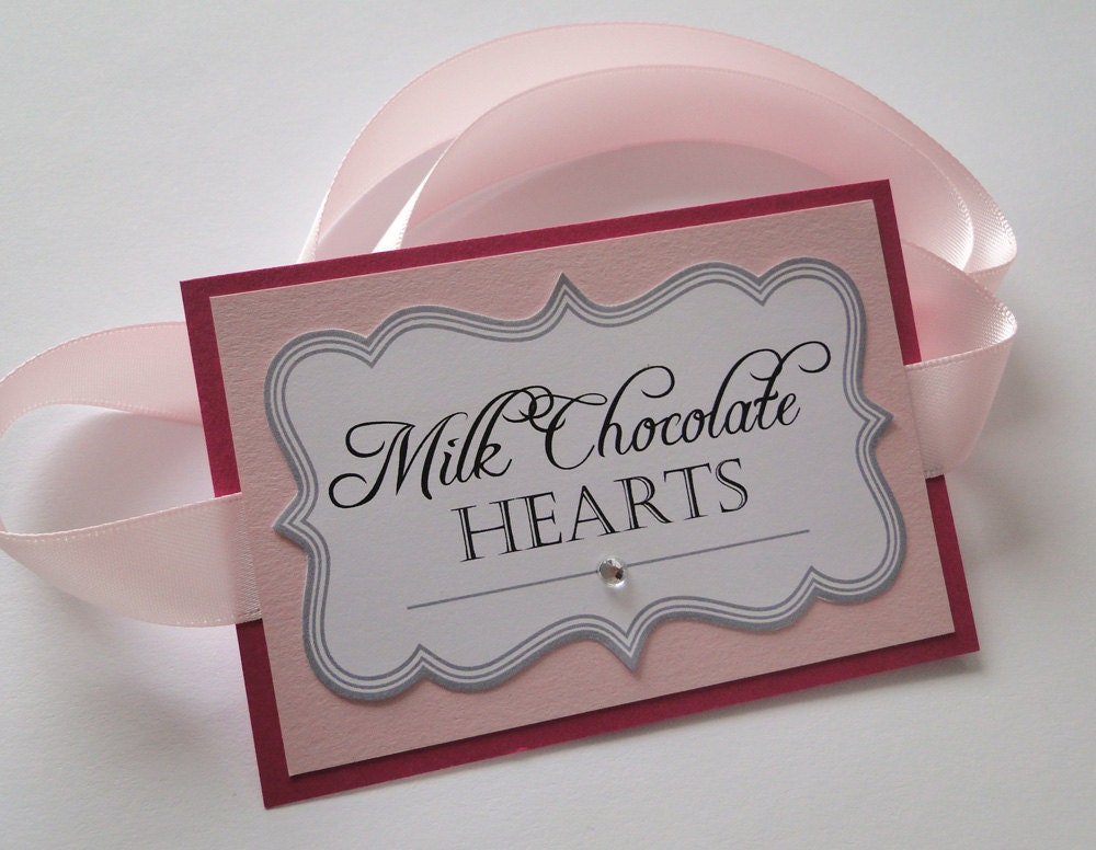 Custom Candy Buffet Labels for Wedding or Party
