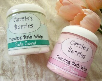 Foaming Bath Parfaits....Whipped Soap--Great for Shaving.....infused with shea butter, aloe vera oil, and sweet almond oil