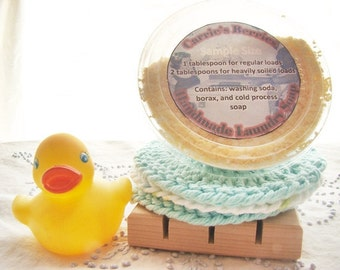 Handmade Laundry Soap--5oz Trial Size--Made with Natural Ingredients
