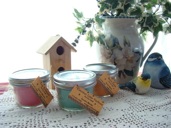 Soy Mason Jar Candles--Make great Gifts and Smell Great Too