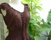 Princess Cotton Dress - BROWN