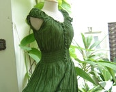 Princess Cotton Dress - Forest Green