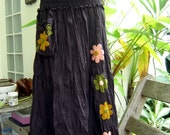Nothing to Worry About Long Skirt II - Choc Brown