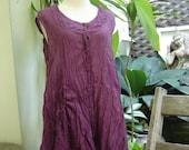 Sleeveless Cotton Top - Purple