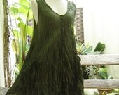 Sleeveless Cotton Top II - Olive Green