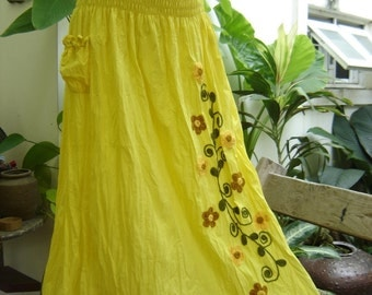Nothing to Worry About Long Skirt - YELLOW