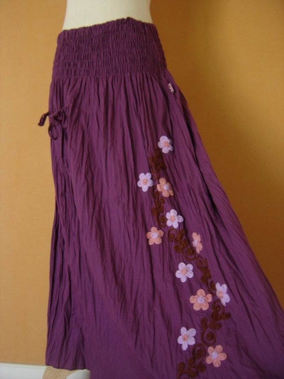 Nothing to Worry Long Skirt - PURPLE