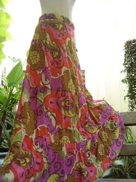 Floral Printed Cotton Long Skirt II