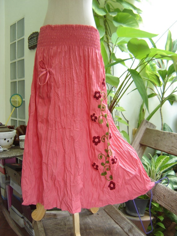 Nothing to Worry About Long Skirt - Pink