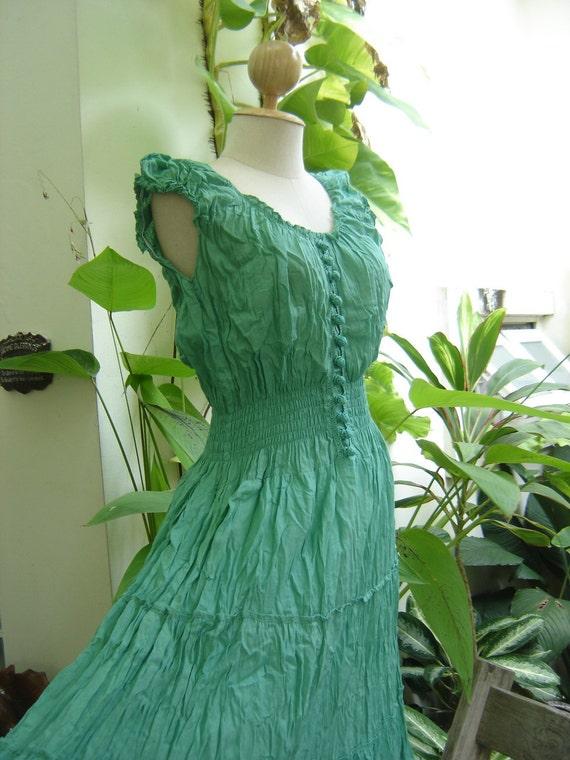 Princess Cotton Dress - Green