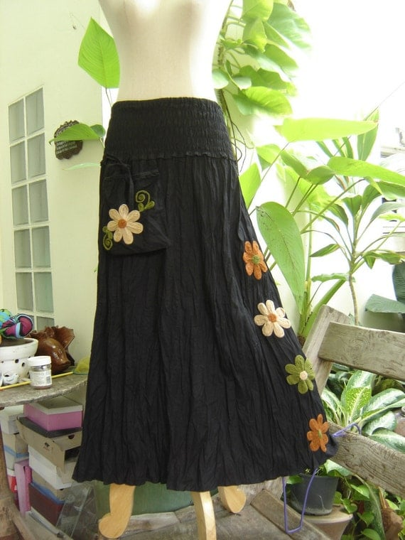 Nothing to Worry About Long Skirt II - Black