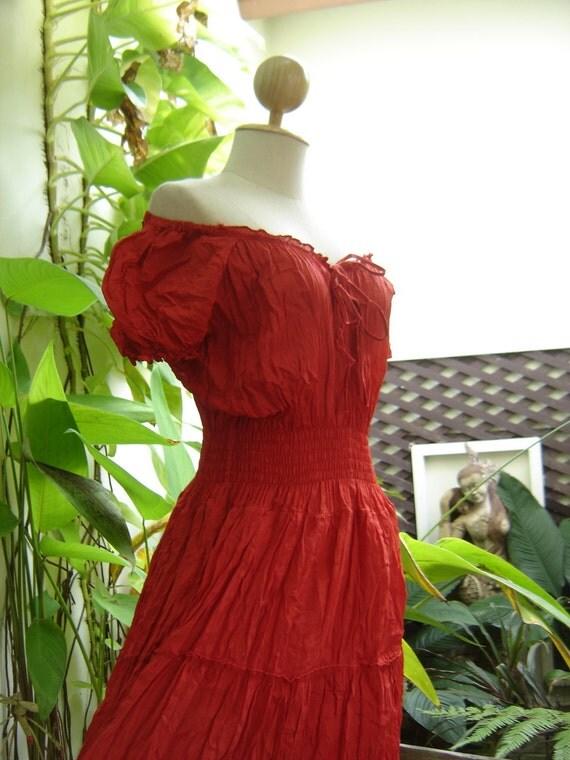 Princess Cotton Dress II - Red