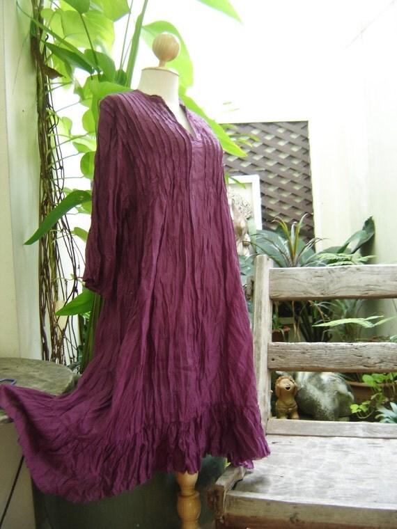 Comfy Cotton Tunic - Purple