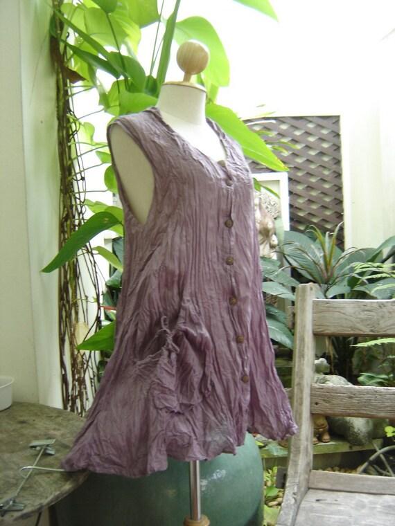 Sleeveless Cotton Top - Soft Purple