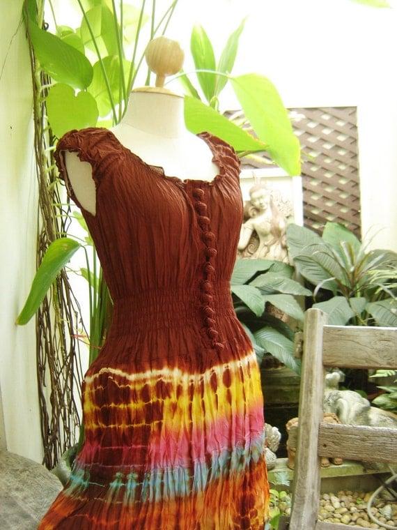 Princess Tie Dyed Cotton Dress - BR0305
