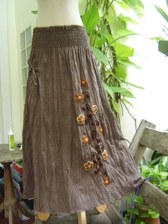 Nothing to Worry About Long Skirt - Bole Brown