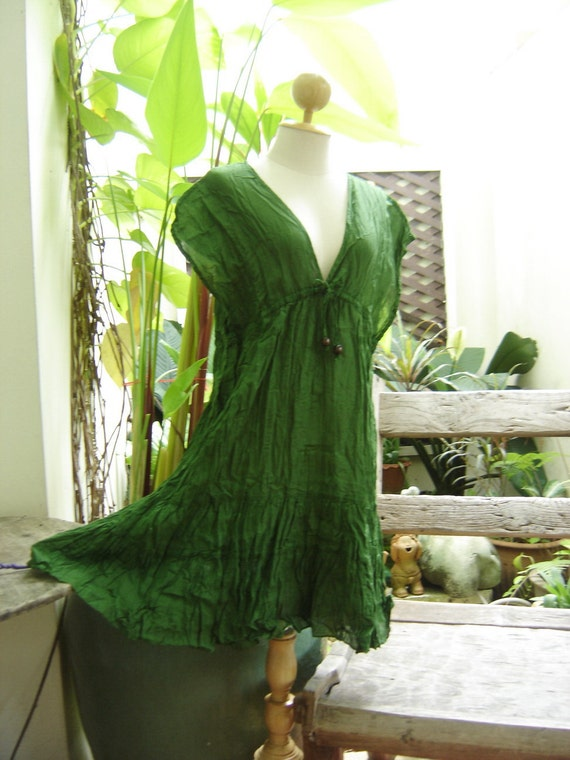 Lovely Cotton Tunic - Forest Green