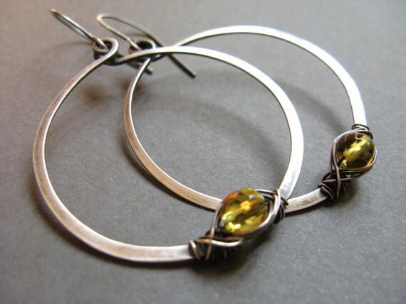 Ella Artisan sterling silver hoop