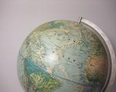 Vintage Globe - Rand McNally World Portrait Earth Model circa Late 1960s or Early 1970s from saltcityspice