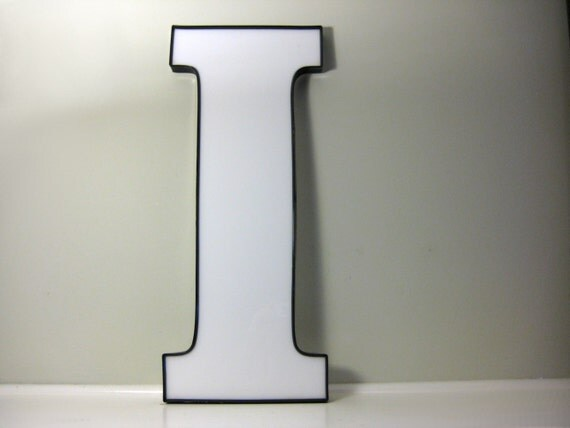 Large industrial alphabet letter i building by saltandginger for Large plastic alphabet letters