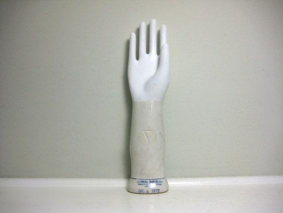 Vintage Porcelain Hand Glove Mold Size 7 General By