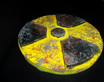 radioactive symbol wooden wall art (Made to Order)