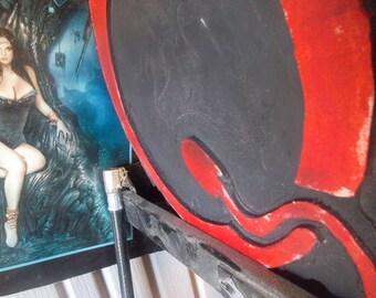 Queens of the Stone Age, wooden wall art, QOTSA, rock music woodart,  hard rock,  Made To Order