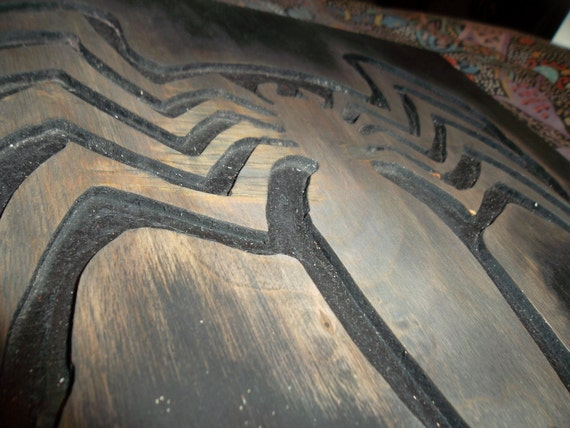 Venom logo wooden wall art