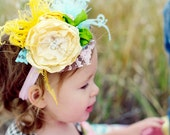 CREAMSICLE CAKE headband made to match Matilda Jane, Persnickety & Serendipity tm