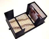 photograph archival box - black with floral Japanese Chiyogami paper
