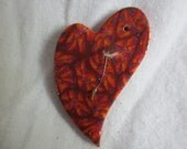 Polymer clay Make a wish magic heart - handmade heart with dandelion seed