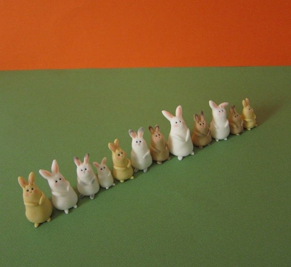 Bunny Family Cupcake Toppers