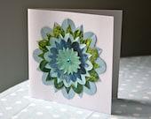 PERSEPHONE handmade recycled greetings card