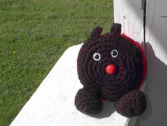3 1/2 ins. (10 cm) Lady Bug Bean Bag
