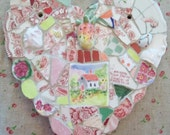 HEART Mosaic     Strawberry Cottage