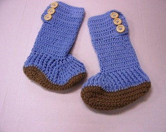 Hightop Slipper Boots for Teens and Adults Hand Crochet by Kams-store.com